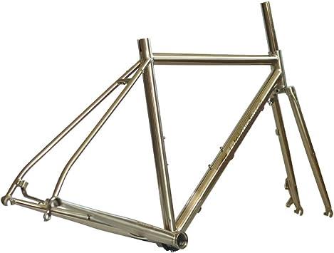 Cuadro de bicicleta de carretera cromado 700C Freno de disco ...