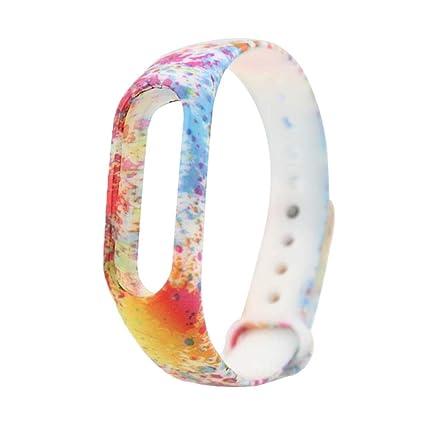 ☀️Modaworld Nueva Correa del Reloj Elegante de TPU de la Manera para Xiaomi Miband 2