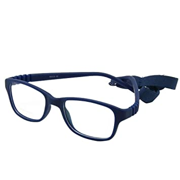 79f86e3f6469 EnzoDate Boy Glasses Frame with Strap Size 43 16 One-piece No Screw Safe