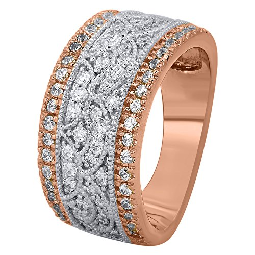 10-carat-total-weight-Diamond-10k-Rose-Gold-Anniversary-Band