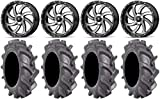 "Bundle - 9 Items: MSA Mach Switch 18"" Wheels 33"" BKT AT 171 Tires [4x137 Bolt Pattern 12mmx1.5 Lug Kit]"
