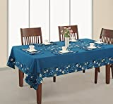 Rectangular Table Cover 60x120 Inch 12 Seater,Printed And Solid,RDSXXL-1416SP,Blue,100% Duck Cotton,