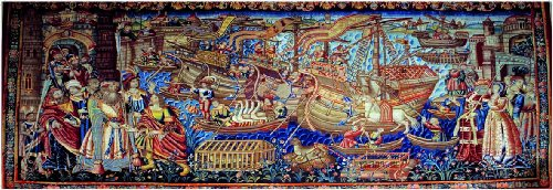 Ricordi Vasco da Gama arrives in Calcutta 1000 Piece Renaissance Art Panoramic Jigsaw Puzzle