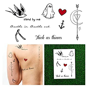 Amazon.com : Tattify Hilary Duff Temporary Tattoo Collection - (Set ...