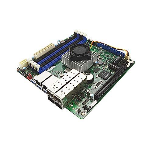 Jetway NF699-C3758 Intel Atom 8-Core Mini-ITX Motherboard w/Dual Intel GbE, 4x 10GbE SFP+ - Dual Gbe Motherboard