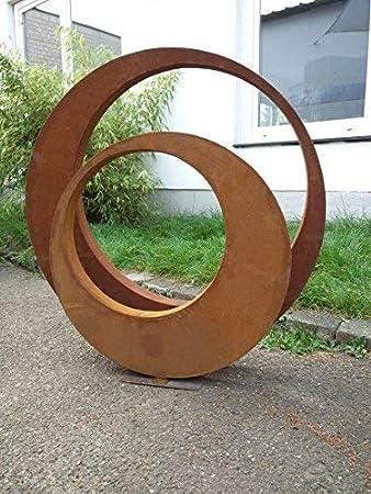 Zen Man 2st. 101506 - Escultura de jardín (Metal Oxidado, 80 x 5 cm y 60 x 5 cm)