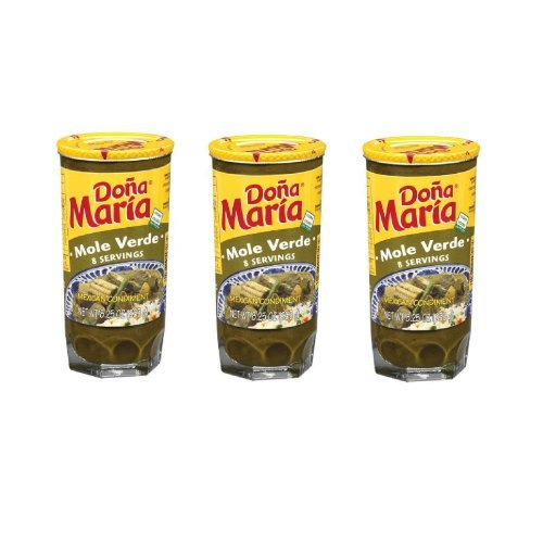 Dona Maria, Mole Verde, 8.25oz Glass Jar (Pack of 3)