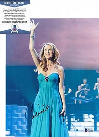 Celine Dion Legendary Singer Signed Autograph 8x10 Photo Beckett BAS COA #2