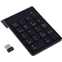 Ciglow Teclado Numérico Inalámbrico, Mini Teclado Numérico Portátil USB 18 Teclado Teclado Ultra Delgado para Laptop/Pro/Notebook