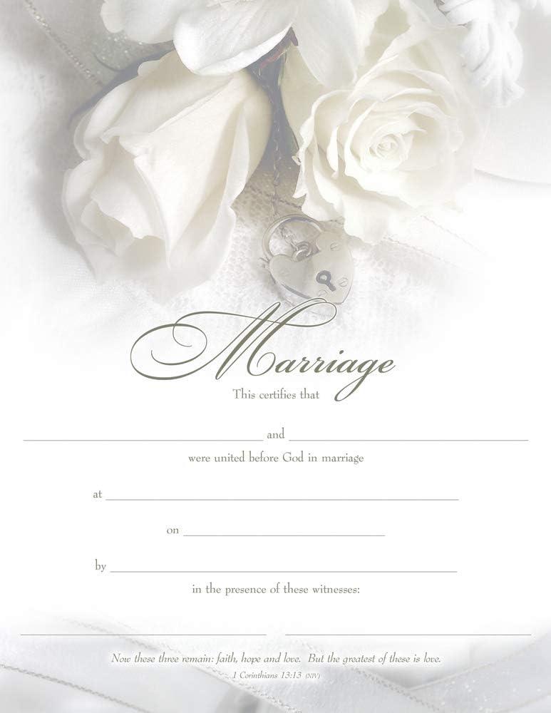 Warner Press 304035 Certificate - W-Marriage, Premium Bronze Foil Embossed by Warner Press