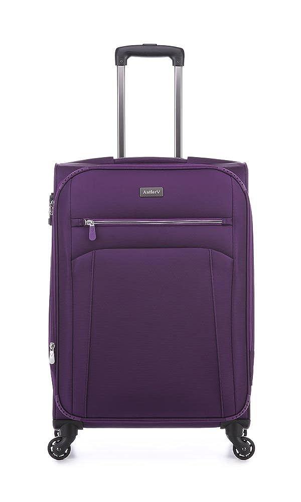 アントラーマーカスシロミディアムスーツケースパープル、サイズ:68 x 44 x 26/29   B07BB2T1MG