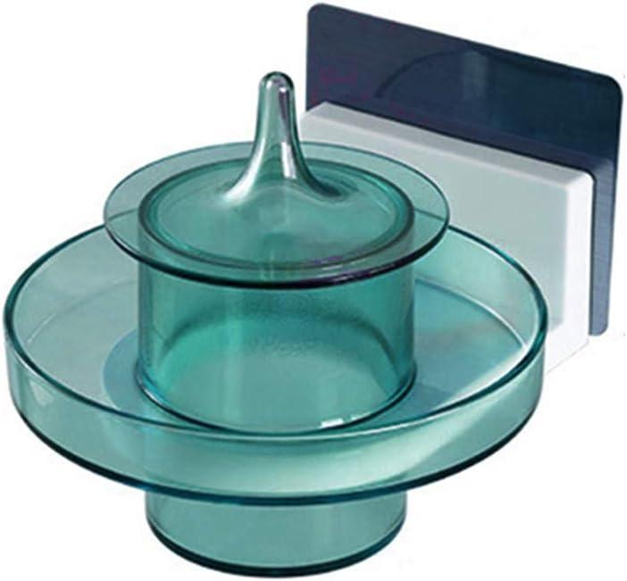 Dosige Boite /à Coton Tiges Maquillage Cristal Bo/îte de Rangement Boite /à Coton Pad R/éservoir de Stockage de Cosm/étique avec Deux Compartiments