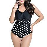 Search : Little Hand Women's Retro Strap Polka Dot One Piece Swimsuit Swimwear Plus Size Bikini