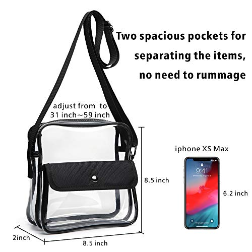da2447acc46a Clear Purse, F-color Concert Stadium Approved Clear Bag, BTS, NFL, NCAA  Approved Crossbody Bag for Women Men