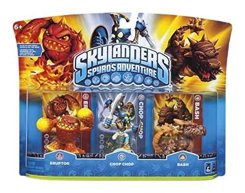 Figurine Skylanders : Spyro's adventure - Chop Chop + Bash + Eruptor -