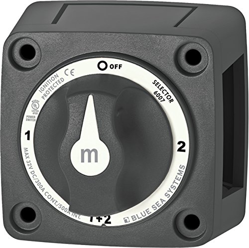 Systems Panel Dc Battery - Blue Sea Systems m-Series Mini Selector Battery Switch, Black