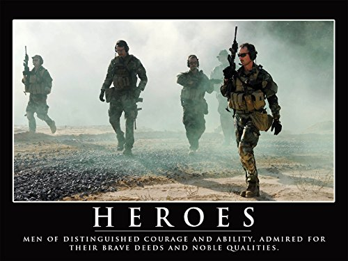 Heroes Poster Navy Seals Poster Inspirational Poster 24x36