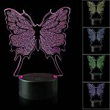 Best Night Light With Double Touches - AZALCO 3D Illusion Butterfly Night Light Lamp Review