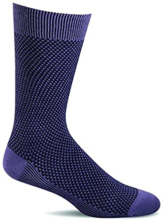 Sockwell Men's Ziggy Casual Crew Socks (Plum, M/L)
