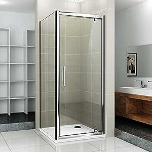 AquaSpa Deluxe 760x760mm shower enclosure Pivot door cubicle+side ...
