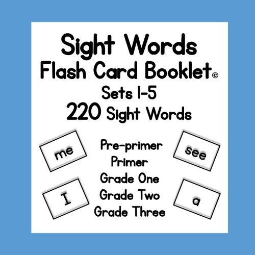Sight Words: Flash Card Booklet