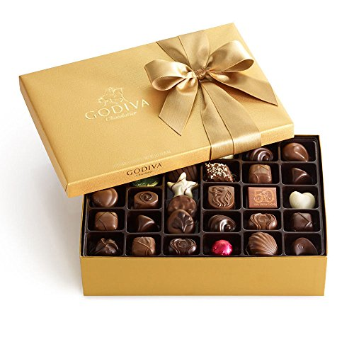 Godiva Chocolatier Classic Gold Ballotin Candy, Chocolate Gift Box, Great for Holidays, 70 Count