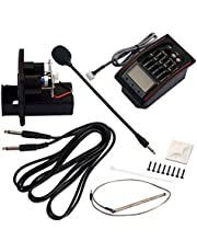 SUPVOX Sintonizador de Preamplificador de Ecualización Preamplificador de Ecualizador de 5 Bandas con Micrófono Piezoeléctrico para Guitarra Eléctrica Acústica