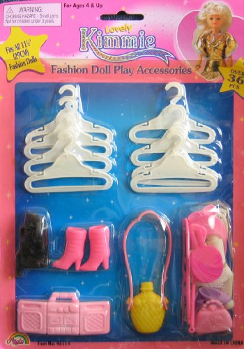 Kimmie Fashion Doll Play Accessories For Barbie & 11.5'' Fashion Dolls - Over 36 Pieces (1999) by Unknown