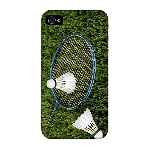 Coque Iphone 4-4s - Badminton Racquette Volant