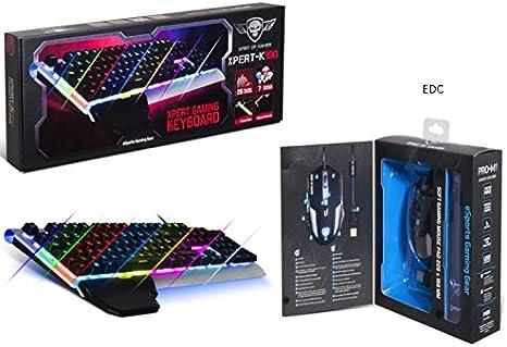 Pack Gamer ratón 2400 DPI, retroiluminación de color azul ...