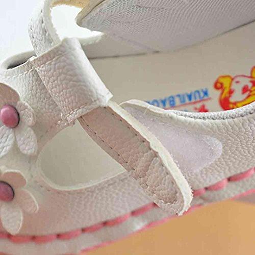 Tefamore Sandalias Zapatos de Soltero Recién Nacido Suela Blanda Antideslizante Para Niños Pequeños Bebé Sneakers Primavera y Verano Blanco