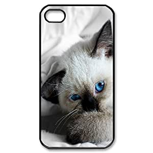 Naza Eye IPhone 4/4s Cases Unique Design Blue Eyes 3, Eye Case for Iphone 4 for Girls [Black]