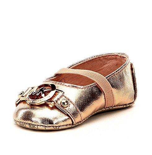 Michael Kors Girl's Baby Giby Ballet Flat Shoes Rosegold 3C (Jane Kors Michael)