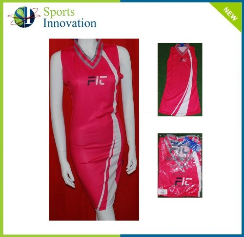 'FIT' Netball Dress- Pink/White- Size 12 AS