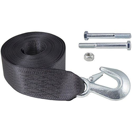 Goldenrod Dutton-Lainson 6249 20-ft Winch Strap with Hook 4000 - Boat Trailer Winch