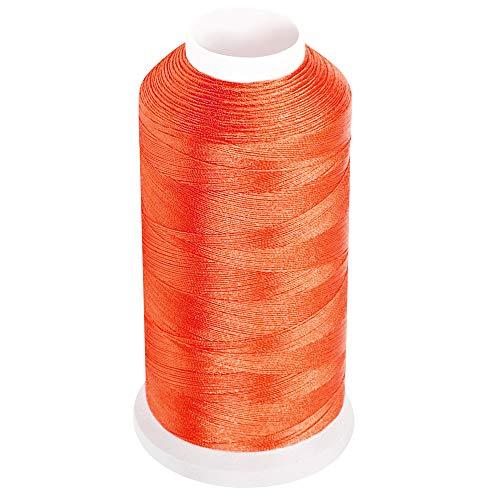 Desirable Life Bonded Nylon N66 Sewing Thread 1500 Yards Size #69 T70 210D/3 for Leather Denim Hand Machine Craft Shoe Bag Repairing Extra Strong Heavy Duty UV Rays Resistant Waterproof (Orange)