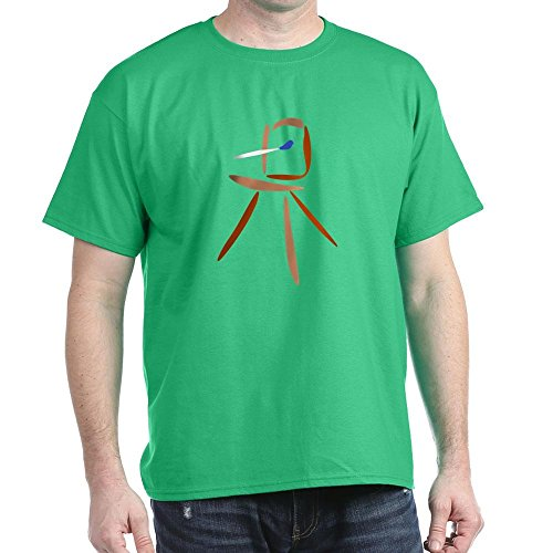 CafePress Plein Air Landscape Artist Easel 100% Cotton T-Shirt Kelly Green