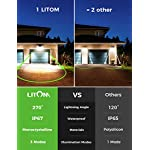 200 LED Solar Lights Outdoor, LITOM Motion Sensor Security Light with 3 Lighting Modes, 270°Wide Angle, IPX7 Waterproof…