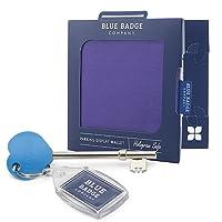 Blue Badge Company blau Behindertenausweis Parkschein Halter und Timer Wallet Purple Bohren und radra Schlüssel