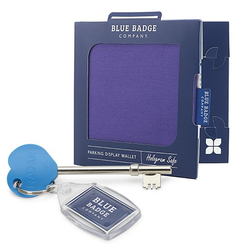 Purple Disabled Badge Parking Permit Holder with Timer Clock and RADAR Toilet Key by Blue Badge Company BK-PUR-280