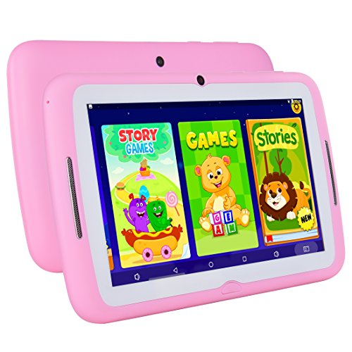 Kids Tablet Android 7.1, 7 Inch, HD Display, Quad Core, Children Tablet, 1GB RAM + 8GB ROM, with WIFI, Dual Camera, Bluetooth, Educational, Multi Touch Screen Kid Mode,With Kickstand … by BENEVE (Image #2)