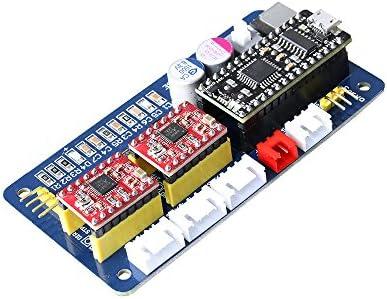 Desconocido SE XY - Placa controladora de Motor Paso a Paso de 2 Ejes EleksMana Panel de Control + Cable USB + Líneas 2P/3P/4P para Grabado Láser DIY: Amazon.es: Electrónica