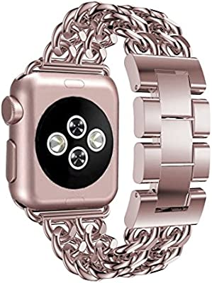 Correas para Apple Watch 38mm 40mm Aottom iWatch Banda Reemplazo de Reloj Pulseras de repuesto de hebilla Acero Inoxidable Deporte strap para Apple ...
