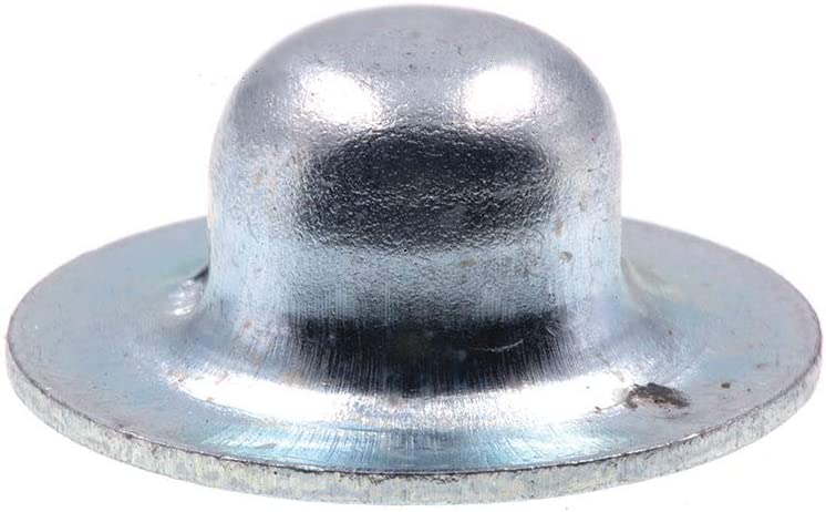 100-Pack Prime-Line 9078469 Axle Hat Push Nuts Zinc Plated Steel 3//16 in.
