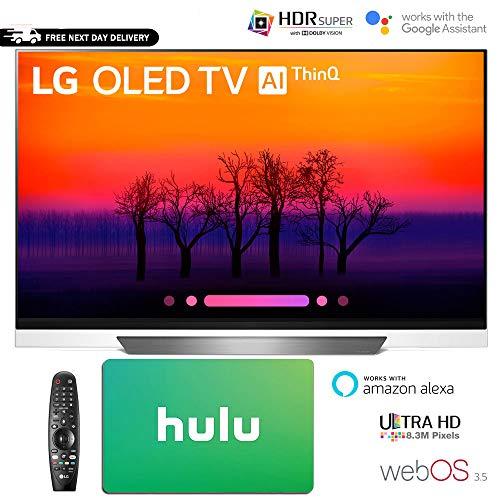 LG E8 OLED 4K HDR AI Smart TV 2018 Model Hulu $100 Gift Card(55″ OLED55E8)