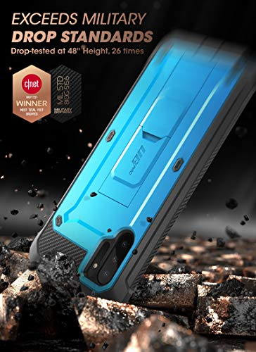 SUPCASE Unicorn Beetle Pro Series Case for Samsung Galaxy Note 10 (2019 Release), Full-Body Rugged Holster and Kickstand with-Out Built-in Screen Protector (Blue)