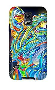 New Shockproof Protection Case Cover For Galaxy S5/ Colorful Cat Case Cover