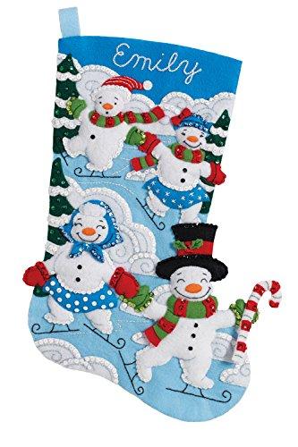 Bucilla 86894 Christmas Stocking Felt Applique Kit, 18