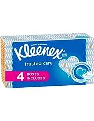 Kleenex Trusted Care Everyday Facial Tissues, Flat Box, 160 Tissues per Flat Box, 4 Packs