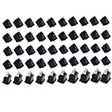 Lsgoodcare 50PCS 10 x15 Ship Type Switch Black AC 3A 250V 2 Pin ON/Off I/O SPST Snap in Mini Boat Rocker Switch